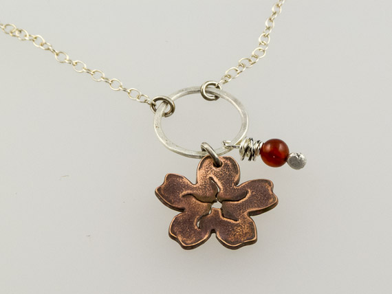 copper cherry blossom necklace €26.50