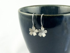 silver cherry blossom earrings €25.50