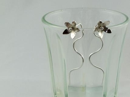 silver jasmine flower earrings 27.50