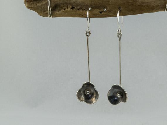 silver forget me not drop earrings €27.00