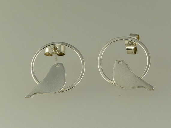 tiny silver bird earrings €26.00