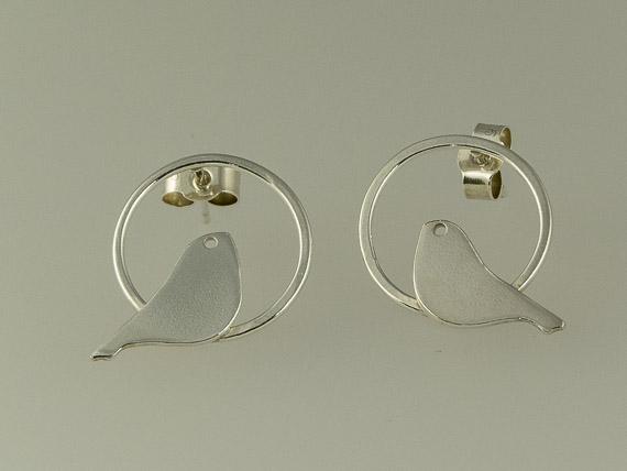 tiny silver bird earrings €26.00