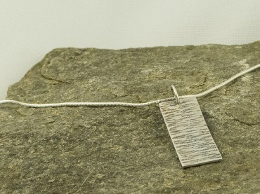 silver birch bark pendant €30