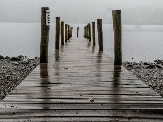 jetty, lake windemere