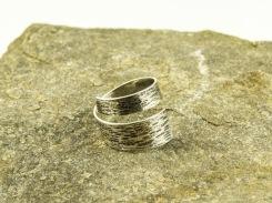 silver birch bark ring