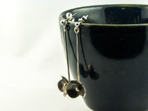 silver forget me not dangle earrings €30