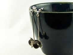 silver forget me not dangle earrings €30