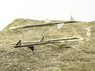silver rose thorn earrings €29