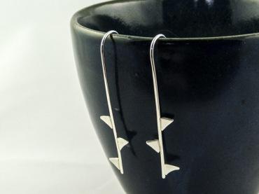 silver rose thorn earrings €29