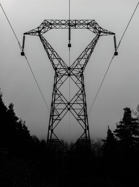 electricity pylon and wires