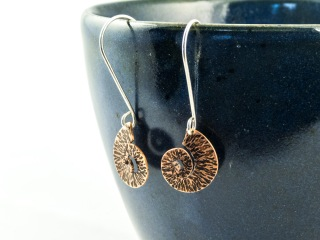 copper spiral earrings €23