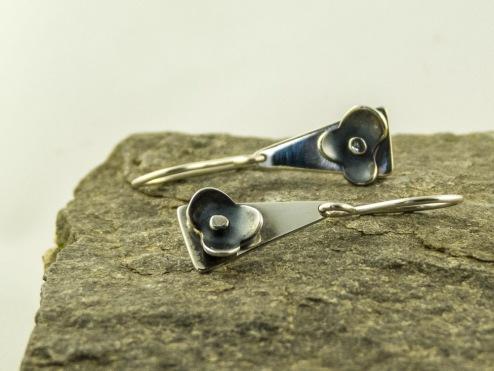 silver cherry blossom earrings €41