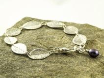 silver leaves bracelet €54