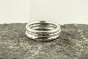 Moorland Texture Stacking Rings