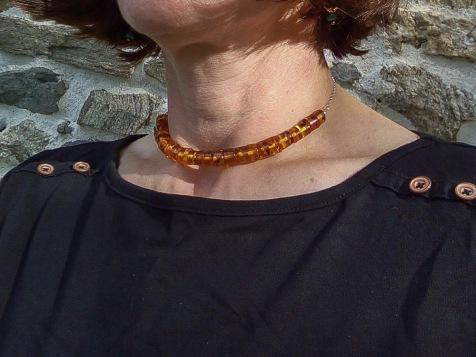 Amber Choker Necklace