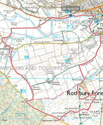 Rothbury Route