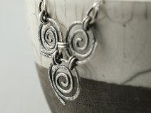 triple spiral necklace